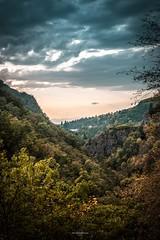Sunset on the Valley (TristanLohengrin) Tags: nikon landscape paysage d5300 autumn automne tristan lohengrin colorful coucher de soleil sunset clouds nuages ciel sky trees arbres vert green orange vallée valley fantasy fantastique