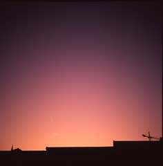 September sunset as beautiful artifact (Scenes from the life of a double monster) Tags: film mediumformat color rollei rolleiflex 6x6 velvia autumn ireland tessar
