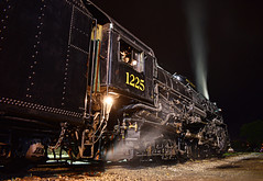 All Aboard?! (Jacob Narup) Tags: peremarquette peremarquette1225 1225 pm1225 owossomi michigan owosso owossomichigan steamrailroadinginstitute steam steamengine steamlocomotive steamtrain train railfan railroad railfanning locomotive exposure night nightime nighttime nightexposure