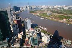 Saigon Skydeck (peterkelly) Tags: digital canon 6d asia southeastasia indochinaencompassed gadventures vietnam view skyscraper river highrise saigon hochiminhcity saigonskydeck saigonriver city urban building
