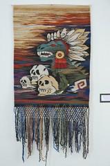 Oaxacan Weaving Zapotec Mexico Tapete Textiles (Teyacapan) Tags: tapete rugs weavings textiles mexican oaxaca zapotec santaanadelvalle quetzalcoatl skulls