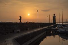Alba - Sunrise (Immacolata Giordano) Tags: alba sunrise lagodigarda lake lago lombardia italia italy faro lighthouse
