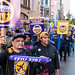 Center City Philly 32BJ SEIU workers march for Building Justice