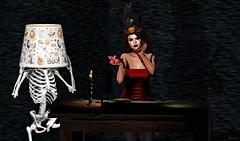 Heartbeat (kare Karas) Tags: woman cute girl beauty lady sweet girly love fashion fun october pretty heart witch spam events avatar blogger sl secondlife virtual soul autumn sexy halloween lamp dress mesh magic sensual event fantasy imagination bento seductive poses seduce gostyss hec groupgift fashiowlposes thedarkstylefair swankevent