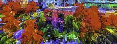 Minneapolis in Fall (soniaadammurray - On & Off) Tags: iphone digitalart art myart visualart abstractart experimental contemporaryart collaboration barbarastanzak autumn seasons shadows reflections exterior minneapolis minnesota usa artchallenge artweekgallerygroup ~~~autumncolours~~~