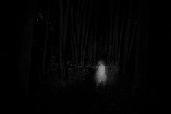 ethereal (the ripped bystander) Tags: lady female white dress blackwhite night darkness