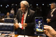 Plenário do Senado (Senado Federal) Tags: plenário sessãodeliberativaordinária ordemdodia senadorluizdocarmomdbgo celular smartphone gravação vídeo brasília df brasil