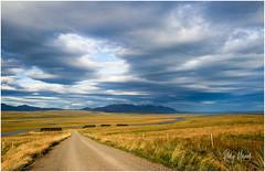 Postcard Greetings From Iceland (RudyMareelPhotography) Tags: europe iceland northwestregion september varmahild blue clouds landscape road sky yellow reykjavik flickrclickx flickr rudymareelphotography ngc natgeotravel wanderlust travel travelphotography nikon