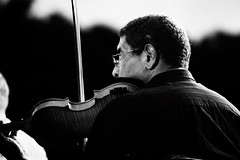 Violinista b/w (Jaime Recabal) Tags: canon 40d recabal blackandwhite monochrome violin musica hombre musico blancoynegro clasica