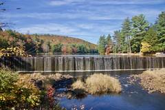 Dam at Bear Creek Lake (Sandra Mahle) Tags: canon canonphotography dam bearcreeklake autumn autumncolors colorsofautumn fall fallseason waterfalls ngysa colors color pennsylvania