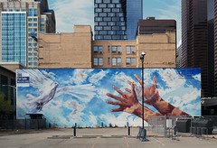 """Giving Wings To The Dream"" Calgary. (Bernard Spragg) Tags: givingwingstothedream calgary art murala walls cityscape urban lumix compactcamera publicart wallart painting cco"