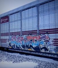 howie (timetomakethepasta) Tags: howie freight train graffiti art ferromex autorack