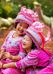 Thai Hmong Girls - Doi Suthep Temple - Ben Heine Photography (Ben Heine) Tags: hug hmong asia cute dress fashion young thai background play ceremony female girl child tribal sisters year karen ethnic temple white kayan asian face hill smile art laugh little people person monument vintage petite costume children new culture girls minority colorful pai beautiful travel nymphet friends portrait outdoor stairs thailand traditional happy doisuthep
