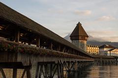 Lucerne, Switzerland (Billy Wilson Photography) Tags: bridges historictower tor bridge medieval lucerne switzerland europe pilatus mountain historic