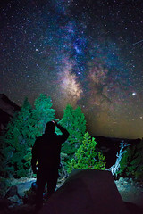 Starry, Starry Night (Tom Fenske Photography) Tags: milkyway stars galaxy astrophotography camping tent silhouette people night mountain wilderness nature outdoors sky planets jupiter tree selfie selfportrait creative