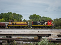 Unlike Sisters (Elijah J. Jackson (EJ)) Tags: wisconsin railroad railroadphotography rails railyard cn canadiannational wc wisconsincentral emd sw1500 switcher photography photo midwest train transportation trains diesellocomotives rare locomotive