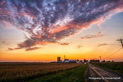 A outstanding sunset (Thomas DeHoff) Tags: sunset illinois farm rural hdr sony a77mk2 tamron 1750
