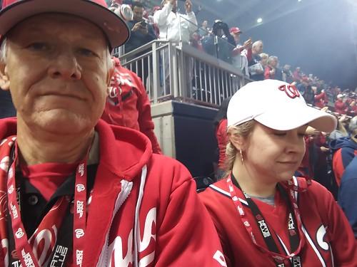 Waiting for start of NLCS game Nationals vs Cardinals ©  Michael Neubert