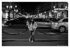 """""""Figures Libres à Paris 181"""" (TBWLC Photography) Tags: fdrouet tbwlc street nb bw monochrome nikon d610 paris femme woman portrait retrato nuit night"""