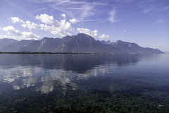 Lake Geneva (Explore) (_aires_) Tags: aires iris lake reflections clouds montreux cantonofvaud switzerland laclemán canoneos5dmarkiv breathtakinglandscapes canonef24105mmf4lisusm