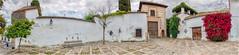 Streets of Cordoba (My digital Gallery) Tags: cordoba spain europe eu panorama andalusia andalusien spanien mauer wall bush red busch rot orangetree orangenbaum brunnen fountain altstadt