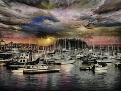 Camden Harbor at Sunset (Rusty Russ) Tags: camden maine harbor rewpork new improved sunset water boat cloud colorful day digital flickr country bright happy colour scenic america world sky red nature blue white tree green art light sun park landscape summer old photoshop google bing yahoo stumbleupon getty national geographic creative composite manipulation hue pinterest blog twitter comons wiki pixel artistic topaz filter on1 sunshine image reddit tinder russ seidel facebook timber unique unusual fascinating