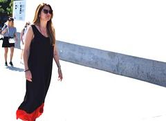 White street (thomasgorman1) Tags: artistic street people woman pedestrian walking nikon white light sunlight wall tourists travel barcelona spain floating