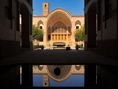 Beautiful Middle East Silk Road era palace - Kashan, Iran (German Vogel) Tags: ameripalace buildingexterior architecturalfeature bookcover windtower 19thcentury centralasia locallandmark cultures unescoworldheritagesite asia westasia middleeast iran islamicrepublicofiran islamicrepublic muslimworld middleeasternculture travel tourism traveldestinations touristattractions isfahan isfahanprovince kashan silkroad palace oasiscity architecture