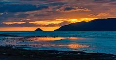 Waikanae Beach Sunset Pano (David Hamments) Tags: nz waikanaebeach sunset duskwalk flickrunitedaward