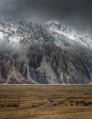 mountainous nz (ngairenaran) Tags: mountain landscape newzealand destination landscapephotographer mountcook aoraki weather climate southisland mist rain foggy mountainous