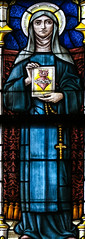 St Margaret Mary Alacoque (Lawrence OP) Tags: margaret saints sacredheart stainedglass brussels