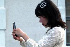 toevallige ontmoeting (roberke) Tags: woman vrouw female portrait portret outdoor buiten street straat