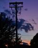 Three-toned sunset sky over Stevens Square