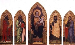 AII80568 (melanietrontin91) Tags: aii80568 madonna child with saints tempera panel polyptych musical angels st nicholas myra bari bishop apostle john baptist orcagna andrea di cione c 130868 galleria dell accademia florence italy italian religion christianity new testament nativity holy family c14th