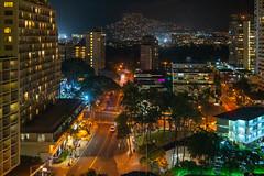 Waikiki and Wilhelmina Rise ll (fate atc) Tags: hawaii honolulu hotels waikiki wilhelminarise buildings city lights night nightphotography palms suburbs