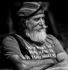 You can't make me. (Neil. Moralee) Tags: neilmoralee man beard hat bushy old mature street candid face portrait craggy shirt black white mono monochrome blackandwhite blackwhite neil moralee bw blackbackground nikon d7200 jasper canada armsfolded youcantmakeme moustache dignified contrast lookingright natgeofacesoftheworld