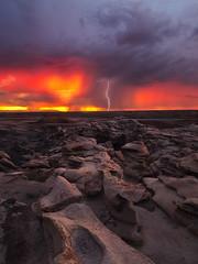 Heartstruck (Maddog Murph) Tags: monsoon new mexico danazin bisti badlands storm stormchaser stormy rain lightning landscape dramatic photography drama dark