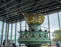 An Old Flame - HWW (11Jewels) Tags: canon 1855 torch statueoflibertymuseum libertyisland nyc windowwednesday