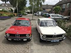 1974 BMW 2002 62-BJ-08 / 1975 BMW 58-HL-91 318 (Stollie1) Tags: 1974 bmw 2002 62bj08 1975 318