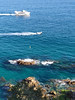 I bet for the island (piotr_szymanek) Tags: boadella costabrava lloret beach water sea rock stone outdoor landscape blue 1k