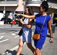 Over there (thomasgorman1) Tags: street streetshots streetphotos public people tourism tourists woman women barcelona spain nikon