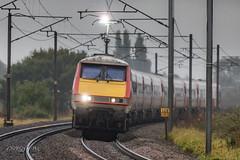 """91106 """"Sparky"""" 1S07 (deltic17) Tags: spark sparking sparky class91 91106 gloomy train rail railway 1s07 canon canon5dmk4 500mm notts ecml eastcoastmainline lner"""