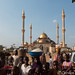 Ilorin: the vendors and the curious outside the mosque