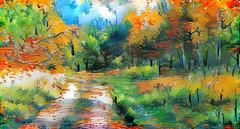 Lens & Brush 14 (V_Dagaev) Tags: landscape nature forest road trail trees autumn art digital day dynamic dynamicautopainter painterly painting painter paintingsfromphotos paint visualdelights