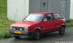 Seat Ibiza Special 1989 (Wouter Bregman) Tags: xy83sk seat ibiza special 1989 seatibiza red rood rouge carolina macgillavrylaan amsterdam nederland holland netherlands paysbas youngtimer old spanish car auto automobile voiture ancienne espagnole españa español vehicle outdoor