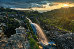 Photo of Loup of Fintry Sunset Waterfall
