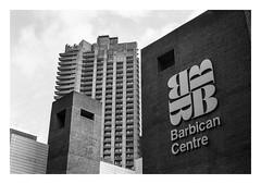 FILM - Barbican Centre (fishyfish_arcade) Tags: 35mm analogphotography bw barbican blackwhite blackandwhite filmphotography filmisnotdead hp5 istillshootfilm london monochrome olympusom1 zuiko50mmf18 analogcamera film ilford mono architecture