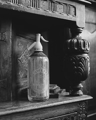(Attila Pasek (Albums!)) Tags: glass bronicasqa mediumformat shop bw vintage film stock hp5 120film camera blackandwhite soda antique ilford analogue bottle