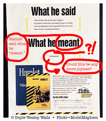 Harold Bloom Is Dead (and so is so much of what he understood, loved, and tried to teach) (Doyle Wesley Walls) Tags: lagniappe 0366 haroldbloom hamlet shakespeare ad advertising theenglishlanguage theliterarycanon genius wordsmith dramatist poet classics literature reading shortcut iphonephoto doylewesleywalls cliffsnotes