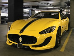 Yellow, not Lemon (l plater) Tags: maseratigranturismo castletowers sydney